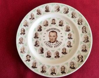 Lyndon Johnson Presidents Plate