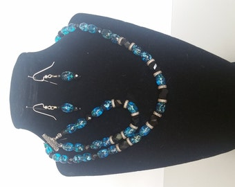 Blue Knight Homemade Jewelry Set