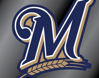 Milwaukee Brewers M Vinyl Decal Sticker