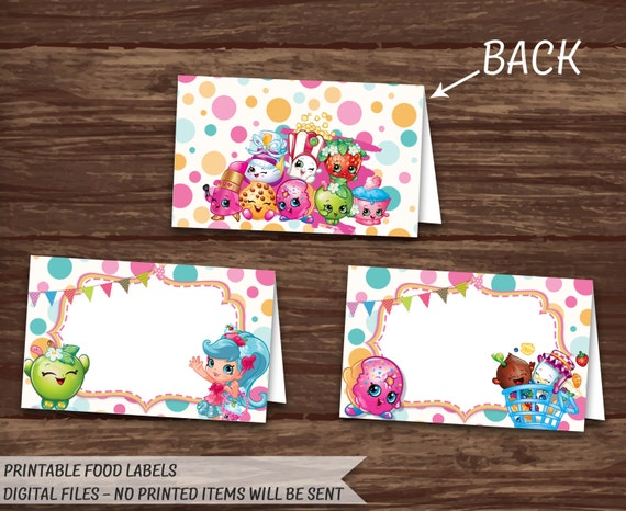 It's just an image of Lucrative Free Printable Shopkins Food Labels