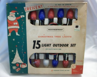 Crescent 15 Light Outdoor Christmas Tree Lights