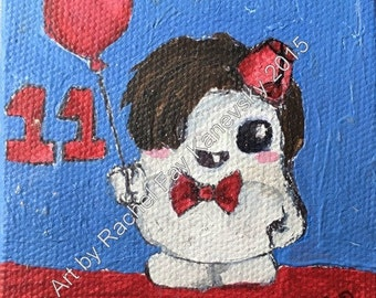 Doctor Who Adipose Cosplay: Eleventh Doctor (Matt Smith) Greeting Card Print