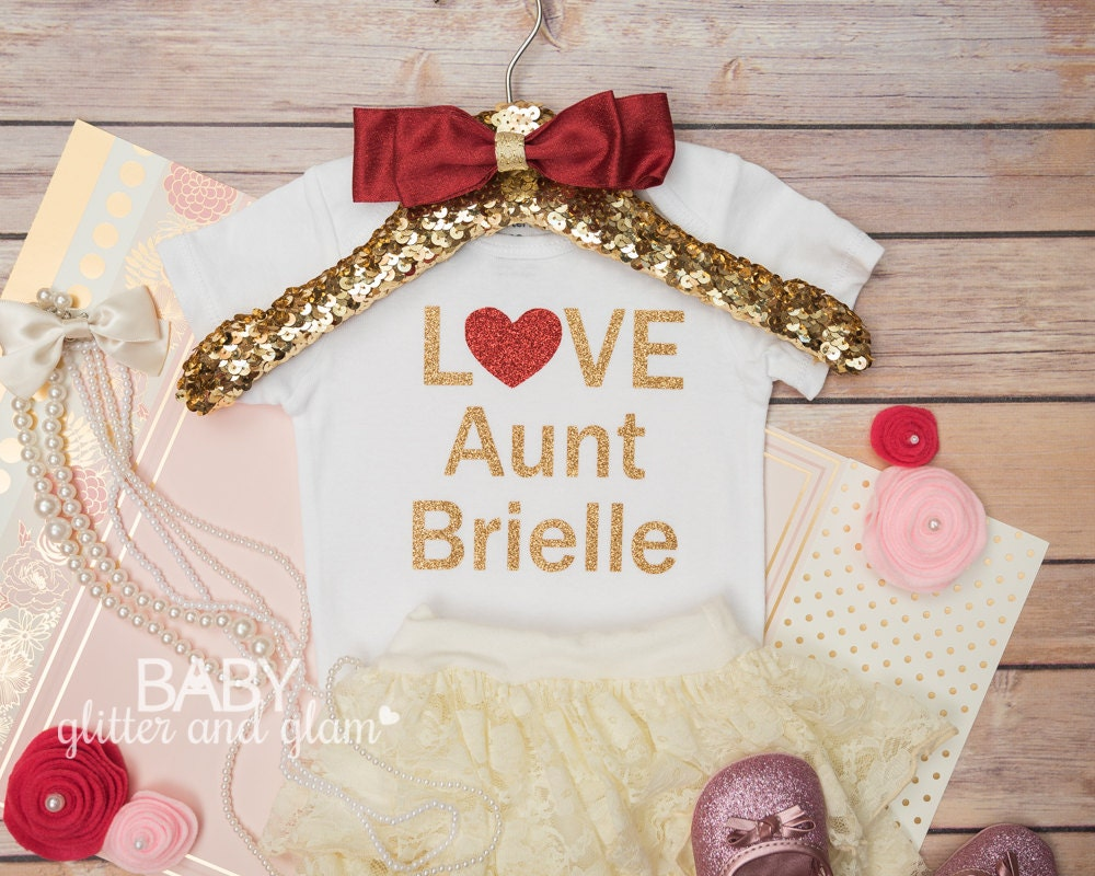 Baby Gifts From Great Aunt : I love my aunt baby shirt by babyglitterandglam