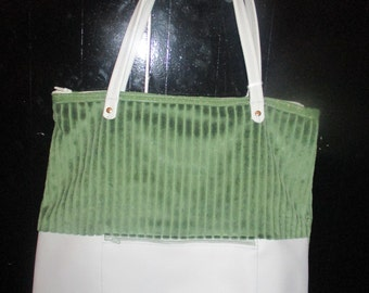 BRUNO green and grey Tote
