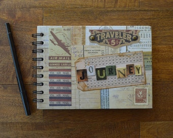 Journey Vintage Travel Journal and Sketch Book