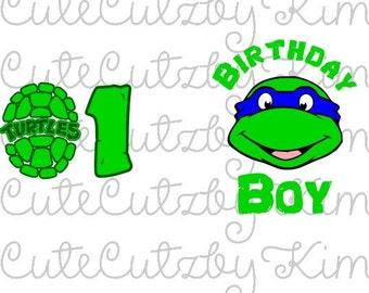 Turtle Birthday svg