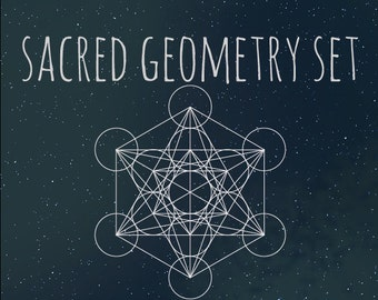 Sacred Geometry Vector/PNG Set (10 Shapes)