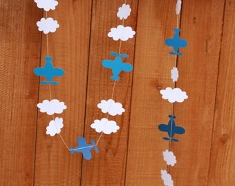 10 FEET AIRPLANES and CLOUDS Garland