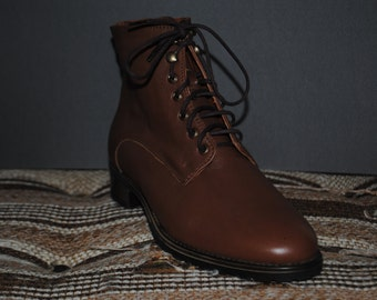 Brown Leather Boots for Women (size 38 EU)