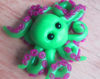 Jelly Octopus - Polymer Clay Sculpture