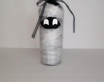 Halloween mummy wine bottle