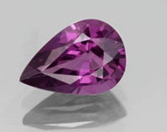 AAA Pear Shape Genuine Faceted Rhodolite Garnet ( 6x4mm - 10x7mm ). 810-761