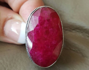 Cherry Ruby Ring- size 8.75!