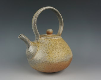 Tea Pot - Anagama Wood Fired - Raw Ash Glaze
