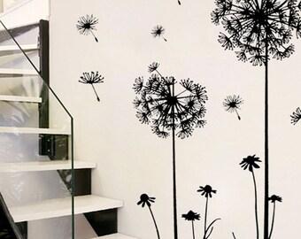 Dandelion; Dandelion Decal; Dandelion Vinyl; Dandelion Wall Stickers; Dandelion Wall Vinyl; Living Room Decal; Home Decor