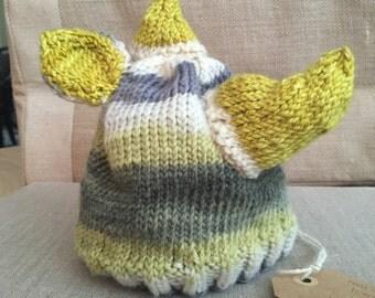 Rhino knit hat