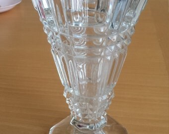 1930's vintage art deco glass vase