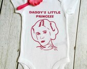 Baby Girl's Clothing, Daddy's Little Princess, Father's Day,  Princess Leia Bodysuit, Star Wars, Infant, One piece