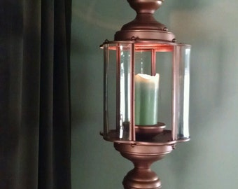 Copper Hanging Candle Holder