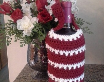 Made to order wine bottle cozy, crochet wine bottle cozy, crochet wine holder, handmade wine cozy, wine bottle gift bag, wine bag