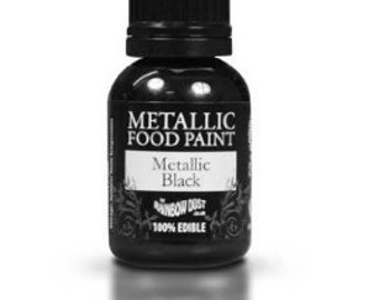 Rainbow Dust Metallic Food Paint - Black