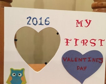 My First Valentine's Day picture frame