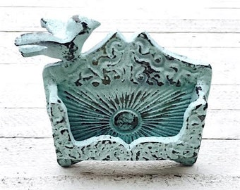 Cast Iron Bird Business Card Holder,Metal Wall Decor,Wall Decor,Rustic,Antique,Shabby Chic,Home and Garden,Old, Accents,Paris,European
