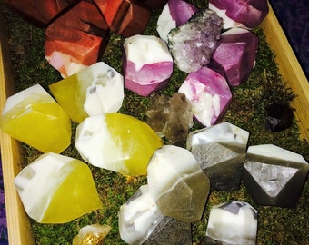 Crystal Essence & Reiki Infused Rock Crystal Gemstone Soaps