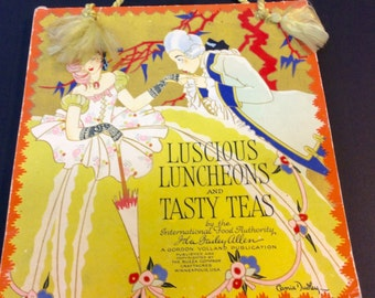 """Vintage Cook Book - Ida Bailey Allen's - 1920 -""""Luscious Luncheons and Tasty Teas"""" - Rare - Collectible Cook Book"""