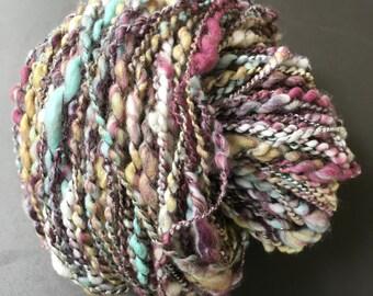 "Skein of Merino Wool spun by hand. ""SUMMER STORM"""