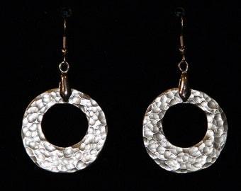 Handmade Hammered Disk Earrings