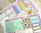 Happy Planner Stickers - Weekly Planner Sticker Set - Erin Condren Life Planner - Day Designer- Functional stickers Butterfly Kit