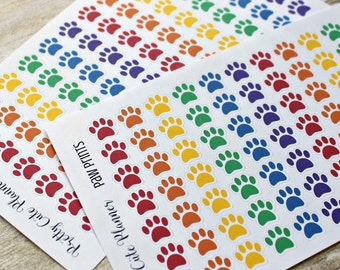 Paw Print Planner Stickers - Pet Stickers- Dog Paw stickers - Vet Appointment Stickers - Animal Reminder stickers