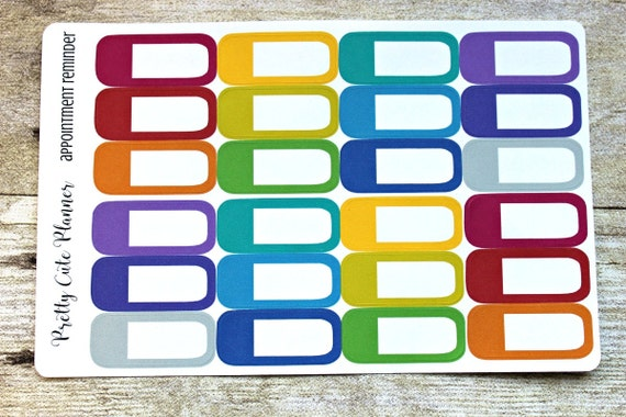 Appointment Reminder Planner Stickers Rainbow Reminder Stickers/ Planner Stickers / Planner Decor / ECLP Stickers / Happy Planner