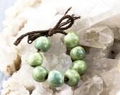 Teensy weensy porcelain bead set-Ronnie's beads