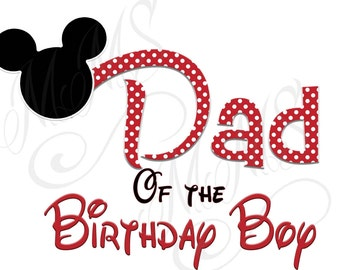 Daddy Birthday Boy Mickey Family Shirt DIY Mickey Mouse Head Disney Family Download Iron On Craft Digital Disney Cruise Line Magnet Shirts