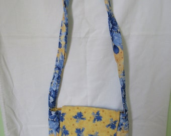 Blue And Yellow Crossbody purse