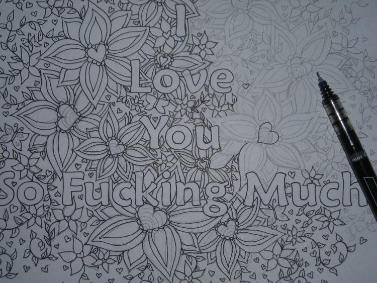 i fucking love coloring