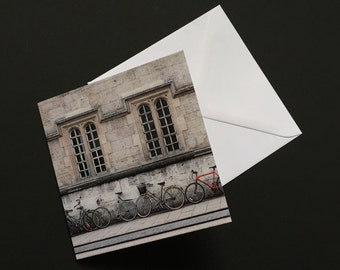 Greetings card, Oxford, bikes, bicycles, colour, card, original print, digital