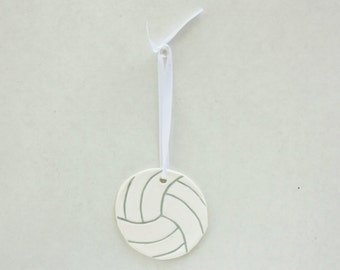 Volleyball Ornament, Personalized Volleyball Gift, Volleyball Favors, Volleyball Party Favor, Volleyball Player Gift, Volleyball Decor