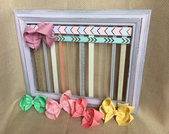Hair Bow Holder, Hair Bows, Girl Nursery Decor, Baby Shower Gift, Headband Holder, Hair Bow Organizer