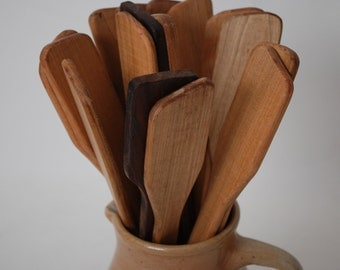 Made in USA Wooden Spoon Maple Stirring Utensil Spatula