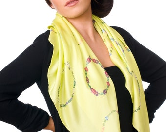 Vibrant Floral Ring Scarf