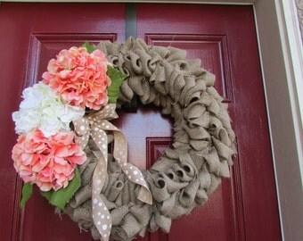 Natural Burlap Wreath