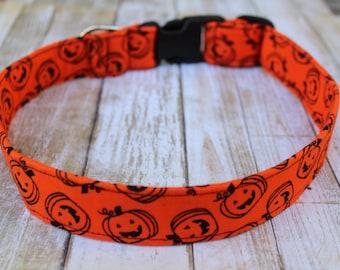 Halloween Dog Collar - Pumpkin Dog Collar - Skull Dog Collar -  Halloween Dog Leash - Bat Dog Leash