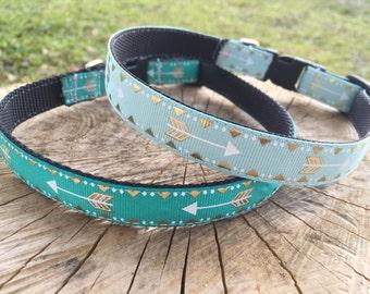Arrow Dog Collar - Teal Arrow Dog Collar - Blue Arrow Dog Collar - Gold Arrow Dog Collar