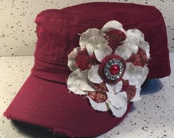 Vintage Burgundy Cap