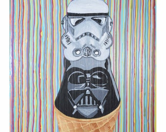 Trooper Scooper - Original Acrylic Painting - Katie Lenae