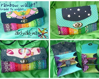 You choose - I sew: Rainbow Wallet made to order