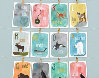 Alaska A to Z Alphabet Flash Cards